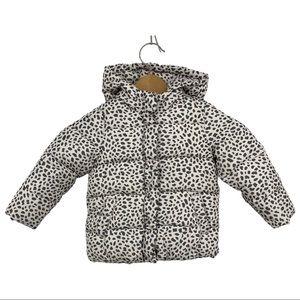 Baby GAP Animal Print Puffer Hooded Jacket Sz 5